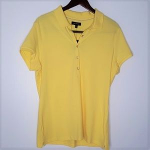 NWT The Limited yellow polo shirt size XL